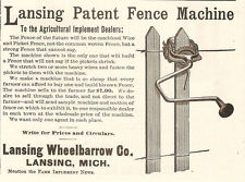 Lansing Wheelbarrow Co.-1891 ad-MI